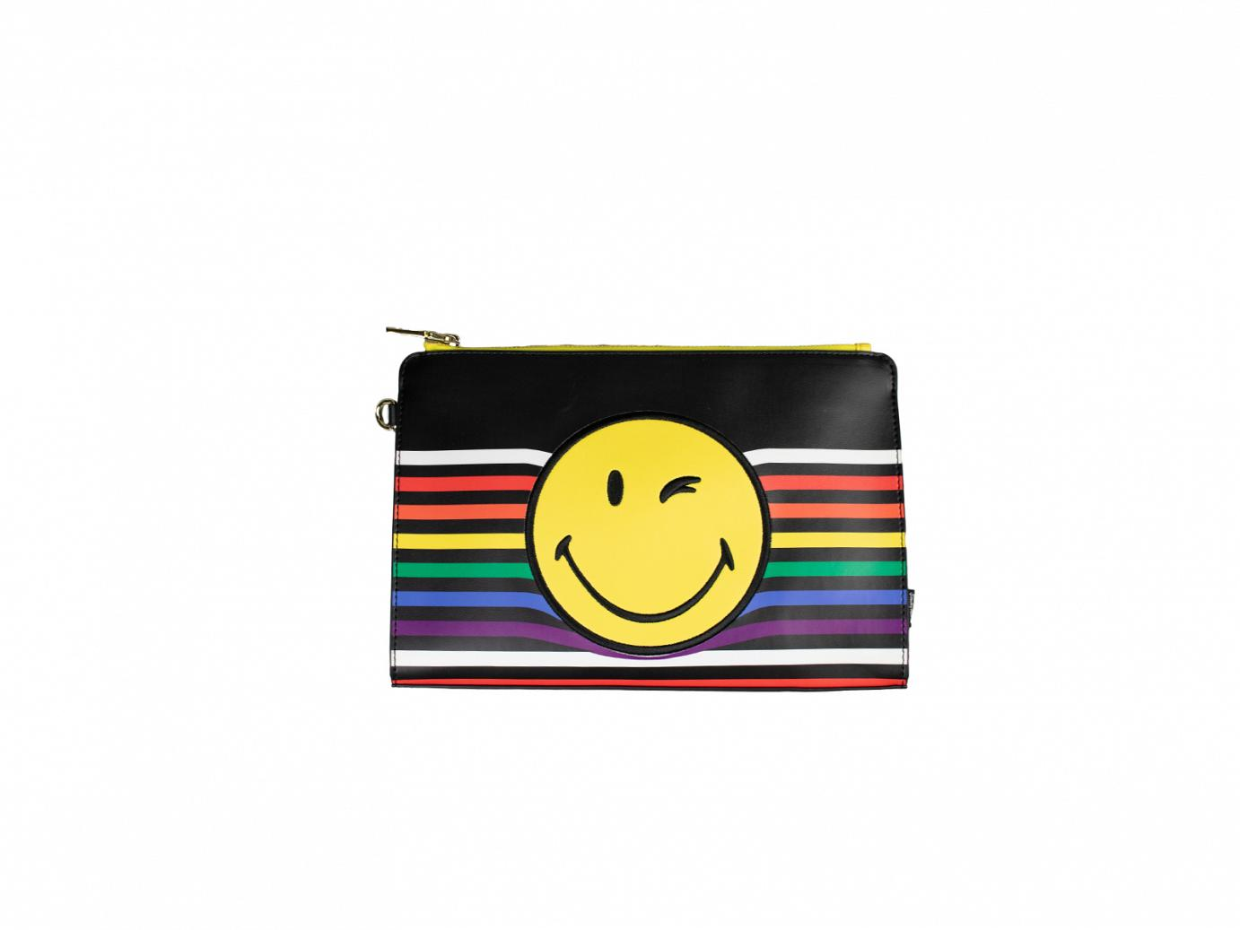 rainbow smile clutch